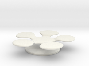 Miniature Compar Flower Table in White Natural Versatile Plastic: 1:24