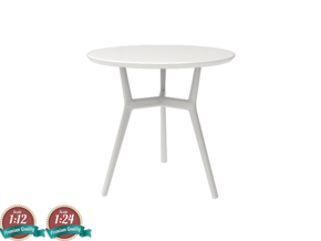 Miniature Tribu Branch Contract Table - Tribu in White Natural Versatile Plastic: 1:24