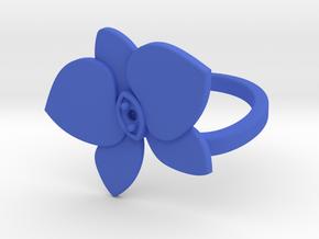Flower Ring in Blue Processed Versatile Plastic