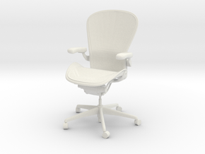 Herman Miller Aeron Chair Posturefit Support 1:6 S in White Natural Versatile Plastic