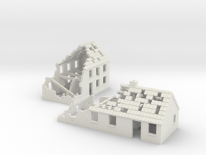 1:160 Ruins x2 in White Strong & Flexible