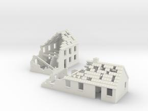 1:160 Ruins x2 in White Natural Versatile Plastic
