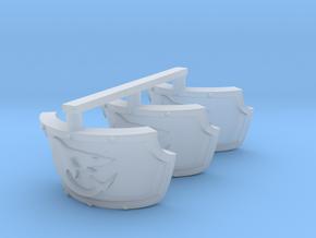Shark Centaur Shoulder Pads x3 R in Smooth Fine Detail Plastic