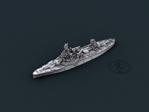USN BB35 Texas [1944] in White Natural Versatile Plastic: 1:1800