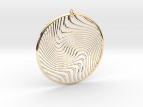 Warped Geometry Pendant in 14K Yellow Gold