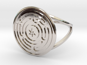 Wheel of Hecate ring in Rhodium Plated Brass: 12.5 / 67.75