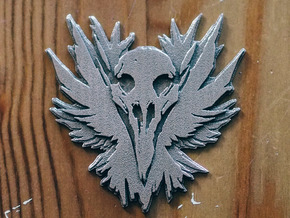 inFamous Second Son Button Face - Most Wanted in Polished Bronzed Silver Steel