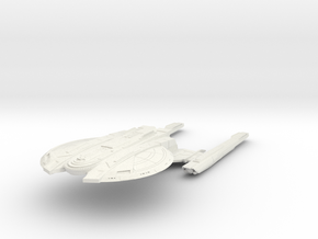 Federation New Orleans Class refit  Cruiser in White Natural Versatile Plastic