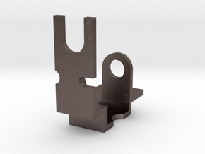 water valves bracket in Polished Bronzed Silver Steel