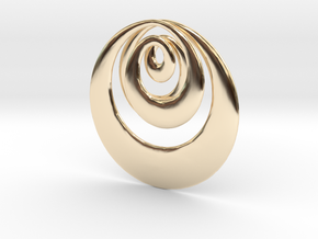 Mobius X in 14K Yellow Gold