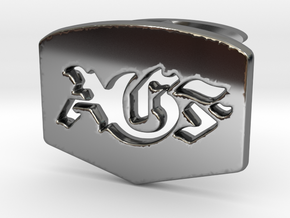 AGF cufflinks in Fine Detail Polished Silver