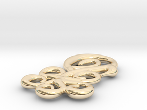 Shapes of flower in 14k Gold Plated Brass