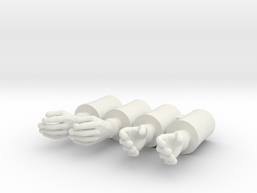 Simple Time Gloves 4 pack in White Natural Versatile Plastic