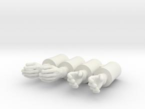 Time Traveler Simple Hands in White Natural Versatile Plastic: Medium