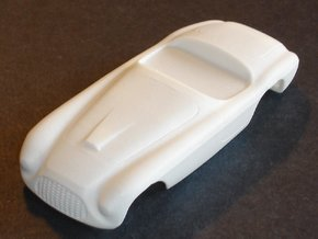 1/32 1949 Ferrari 166 MM  Barchetta Slot Car Body  in White Strong & Flexible Polished