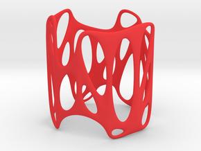 Voronoi Wire Bracelet (001) in Red Processed Versatile Plastic