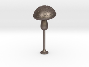 toadstool tamper in Polished Bronzed Silver Steel
