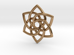 6 Pointed Celtic Knot Pendant in Polished Brass