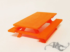 Little Picnic Table in Orange Processed Versatile Plastic