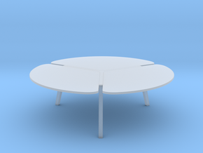 Miniature Flying Flower Cocktail Table - Roche Bob in Smooth Fine Detail Plastic: 1:12