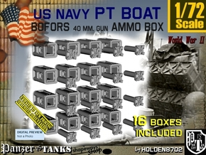 1/72 Bofors Ammo Box Set101 in Smooth Fine Detail Plastic