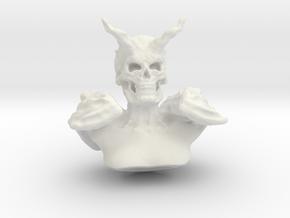 Demonic Bust in White Natural Versatile Plastic