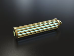 Caged Tritium Lantern in Polished Brass