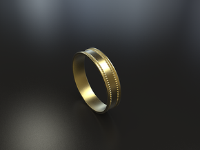 Minimalistic Ring Pendant in Natural Brass