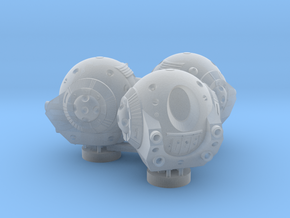 2001: an Odyssey. A trio of Discovery Pods 1:144 in Smooth Fine Detail Plastic