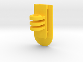 GoPro MOLLE Mount (Side Tilting) in Yellow Processed Versatile Plastic