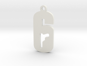 Rainbow 6 Siege Charm in White Natural Versatile Plastic