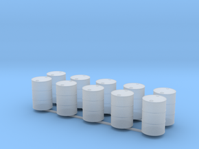 28mm oil barrel x10 in Smooth Fine Detail Plastic