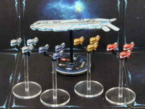 Space fighter A squads (4-6pcs) - Fleet Commander in Smooth Fine Detail Plastic: Medium