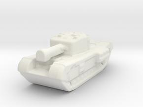 Churchill board game piece in White Natural Versatile Plastic