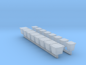 Trash bin  04 .HO Scale 1:87 in Smooth Fine Detail Plastic