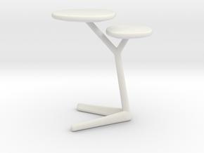 Miniature Portello Coffee Table - Leolux in White Natural Versatile Plastic: 1:12