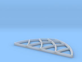 28mm Scale Large Gothic Arch Window in Smooth Fine Detail Plastic