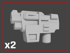 """HAMMER-7"" Transformers Weapons (5mm post) in White Natural Versatile Plastic"