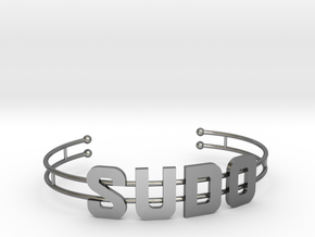 SUDO bracelet in Fine Detail Polished Silver