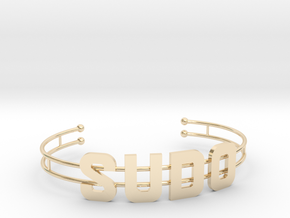 SUDO bracelet in 14k Gold Plated Brass