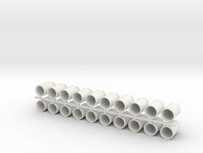 Thirteen Gallon (50 L) Cylindrical Milk Churn in White Natural Versatile Plastic: 1:19