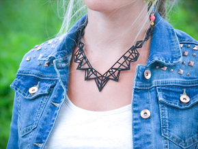 Radical Necklace in Black Natural Versatile Plastic