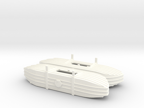 1/72nd (20 mm) scale Pontoons for V-3 Straussler in White Processed Versatile Plastic