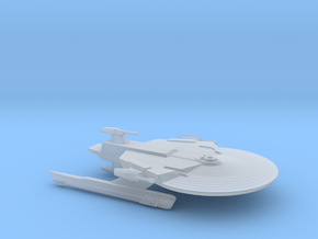 Federation Soyuz Class Medium Cruiser 1:3900 in Smooth Fine Detail Plastic