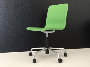 Office Chair 1:12 in White Processed Versatile Plastic