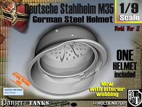 1/9 Deutsche Stahlhelm M35 w interior in White Natural Versatile Plastic