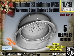 1/9 stahlhelm M35 Set001 in White Natural Versatile Plastic
