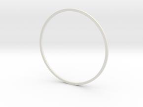 V2 - Mid Gasket in White Natural Versatile Plastic