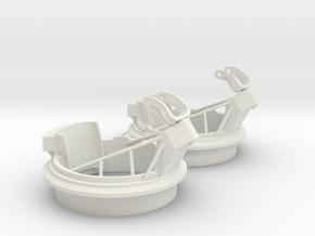 Best Cost 1/20 20mm Mount Mk-12 MOD 1 Set  in White Natural Versatile Plastic
