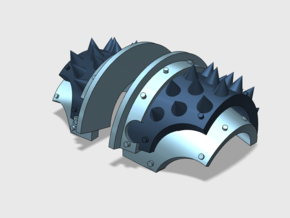 5x Round Spiked = Cataphractii Shoulder Sets in Smooth Fine Detail Plastic